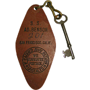 State Room Fob & Key, SS Admiral Benson, circa 1920 - Red Tag Sale Item