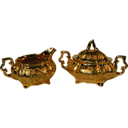 Osborne 22 Kt Gold Porcelain Tea Service Set
