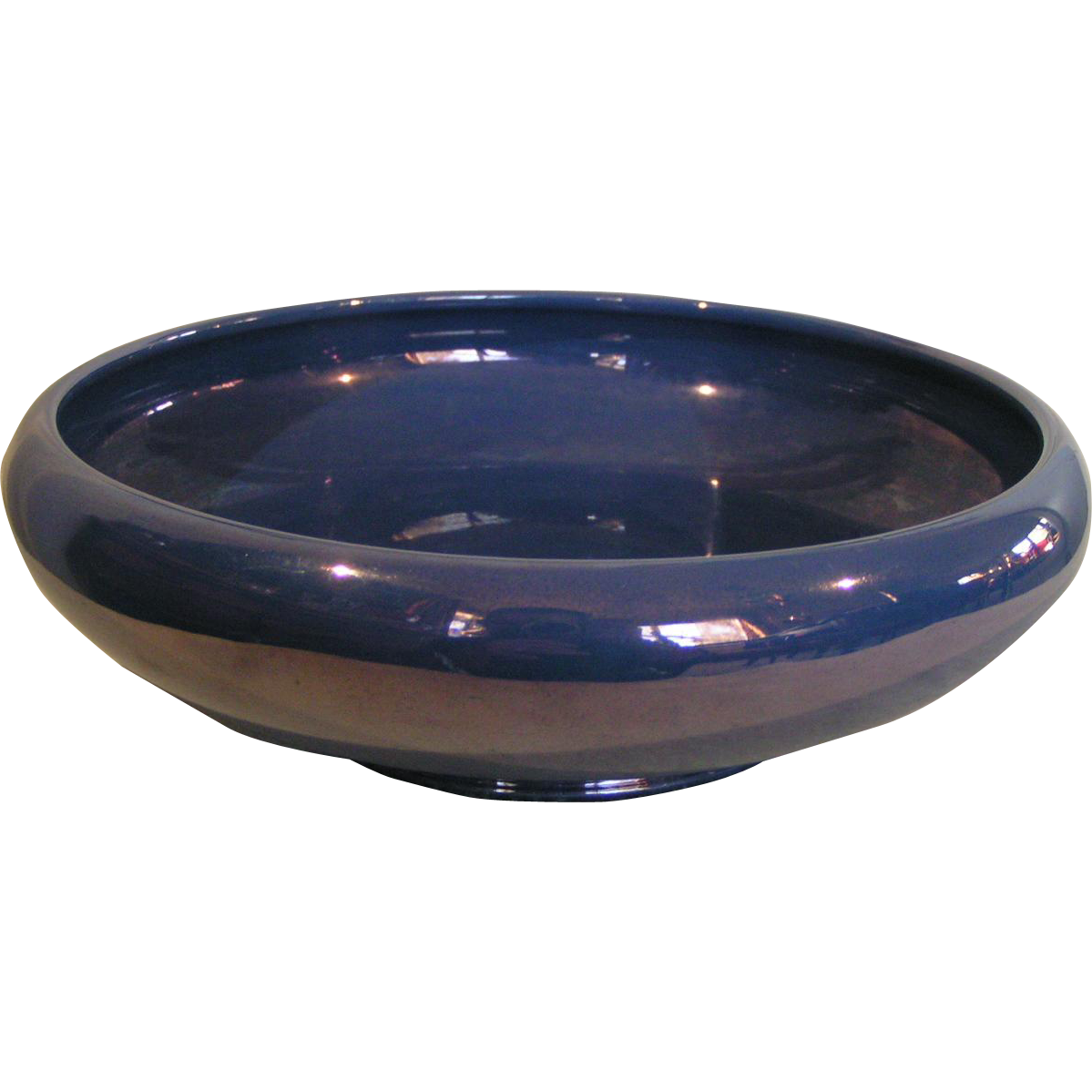 Cowan bowl iridescent blue luster