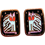 Fantasticat Laurel Burch earrings