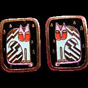 Fantasticat Laurel Burch earrings
