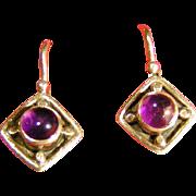 Amethyst in Silver earrings