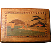 Oriental Puzzle box; multiple secret compartments