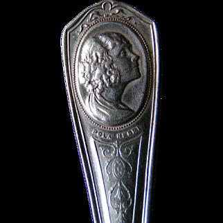 Pola Negri film star souvenir spoon