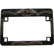 Vintage Motorcycle License Plate Holder