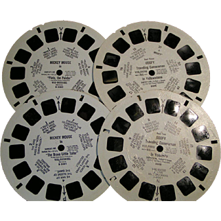 Disney Mickey and Goofy View Master Reels