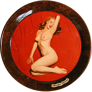 Marilyn Monroe 1950s Nude pose tip trays