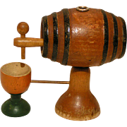Miniature Wooden Tavern Keg, Pub Barrel