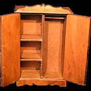 Dollhouse Miniature Wardrobe / Armoire; Hall's Toy original