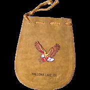 Oregon Buckskin Wampum / Marble Pouch