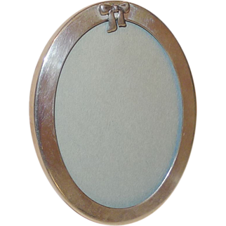 Vintage TIFFANY & Co. Sterling Oval Picture Frame with BOW