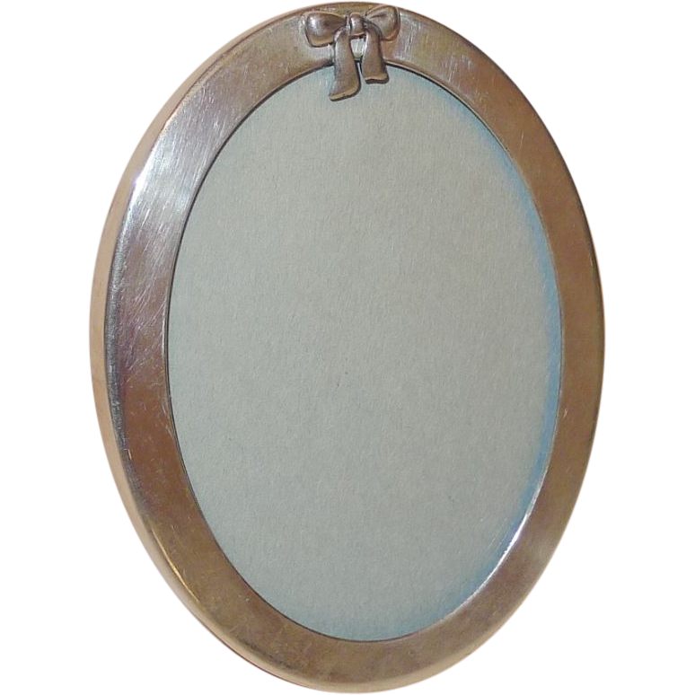 Sterling TIFFANY & Co.  Oval Picture Frame with BOW