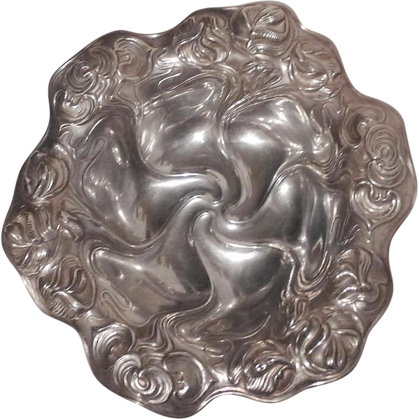 KERR Sterling Repousse Art Nouveau Bowl  5+ Troy Oz.