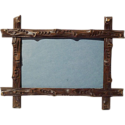 BLACK FOREST Horizontal/Vertical Walnut Picture Frame 19th C.