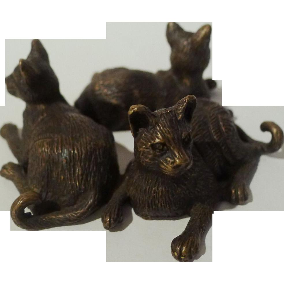 3  Bronze CATS ca. 1920s
