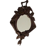 BLACK FOREST Carved Walnut Frame  19th C.