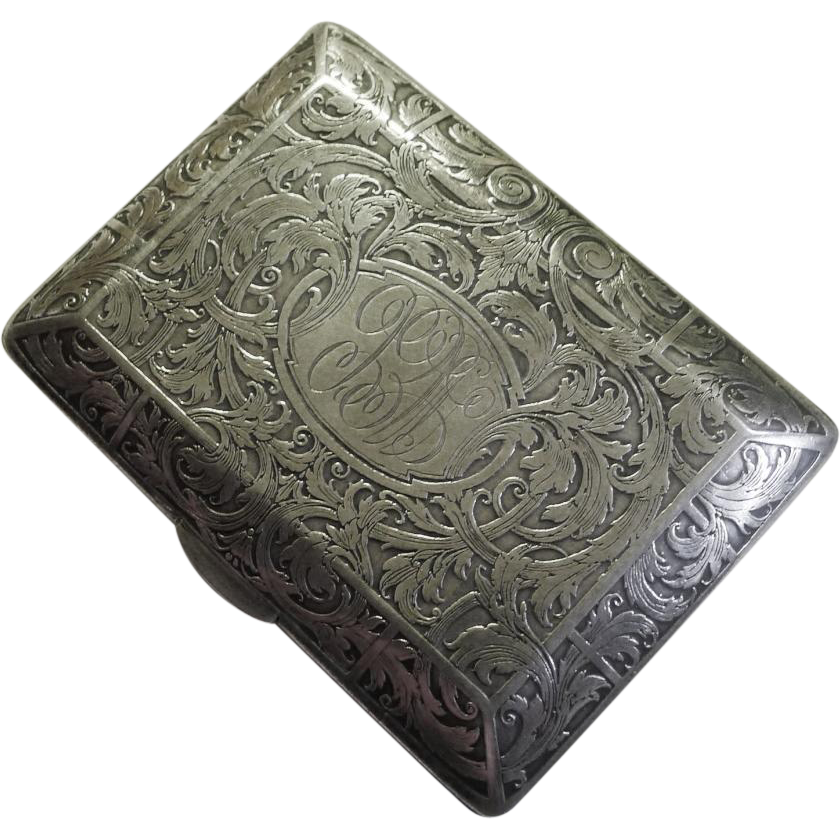 KERR Sterling Card Case 88 grams ca. 1900