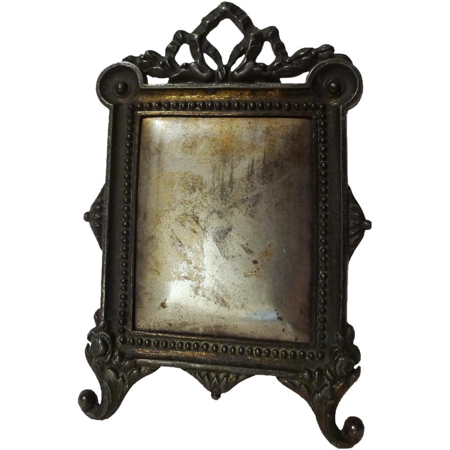 Miniature FRENCH Spring-Loaded Antique Picture  Frame