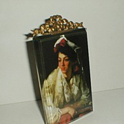 "FRENCH Beveled Glass Photo/Picture Frame Marked ""PARIS"""