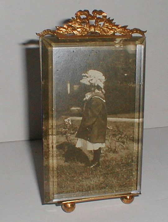 FRENCH Photo/Picture Frame with Beveled Glass/ Ball Feet