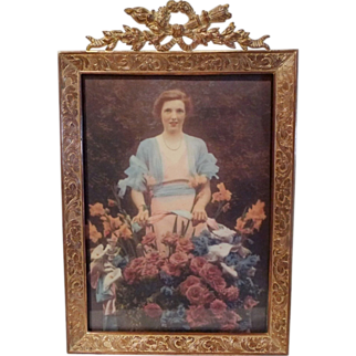 Antique French Torch Top  5 X 7 Picture Frame