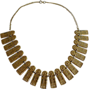 1920s EGYPTIAN Snake Motif Necklace