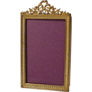 French Dore BRONZE Small Antique Picture  Frame