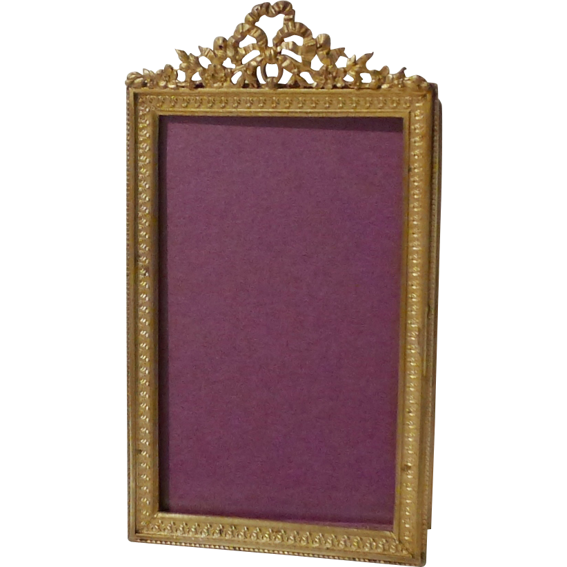 french dore bronze small antique picture frame from