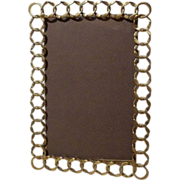 "English Patterned Brass RING 8"" Picture Frame  1890s"