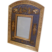 Dore French BRONZE Frame w/Silk and Ornaments ca. 1890