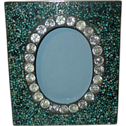 "Turquoise Inlaid MOSAIC Spandrel Frame with ""Stones""    5.5"" Tall"