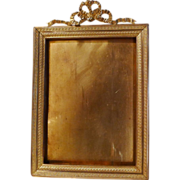 "DORE French Bronze Frame w/Bow Top 7 1/2"" Tall ca. 1890s"