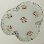 Handpainted  Porcelain Floral Perfume Tray Vintage