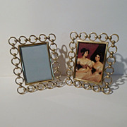Brass RING and BALL  Antique Frames     PAIR