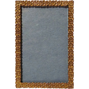 "GOLD-PLATED Brass Antique  Floral Picture Frame 2"" X 3"""