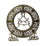 Round BRONZE Antique Frame with Faces