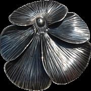 STUART NYE Sterling 1939 Pansy Pin