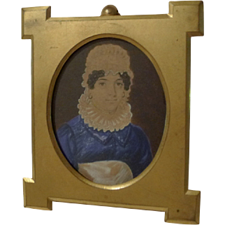 Gold-Plated Brass Antique Spandrel Picture Frame-marked MARION London