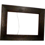 ARTS & Crafts Fumed Oak Frame ca. 1900