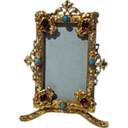 Austria Hungary Gold-plated Miniature Jeweled Antique Frame