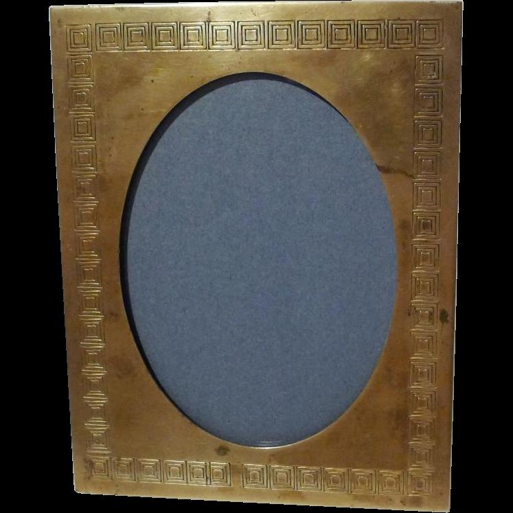 BRADLEY & HUBBARD  Spandrel Brass Picture Frame Pat'd. 1908