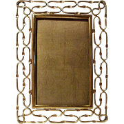 English Brass LOOP Antique Picture Frame