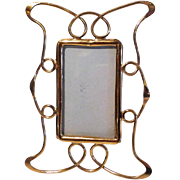 "ART NOUVEAU ""Whiplash"" Brass Picture Frame 4 1/2"""