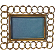 Mini Brass HORIZONTAL Ring Frame Beveled Glass