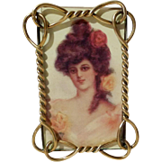 Brass Twist & Loop Antique CDV Picture Frame 1880s