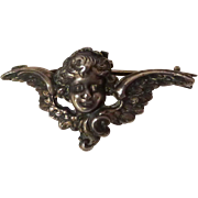 ART NOUVEAU Sterling Cherub Watch Pin