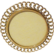 """5 1/4"""" Round Brass RING Antique Picture Frame"""