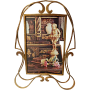 ART NOUVEAU Brass D.R.G.M. Whiplash Picture Frame