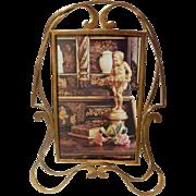 ART NOUVEAU Brass D.R.G.M. Whiplash Picture Frame