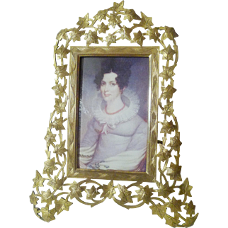 Marion London Ivy and Vine Antique Brass Frame